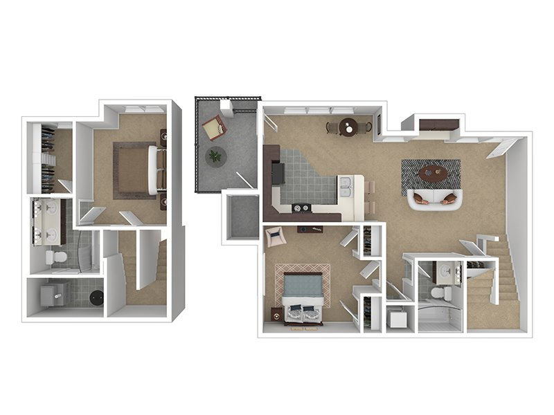 Our 2X2-1064 is a 2 Bedroom, 2 Bathroom Apartment