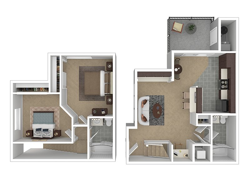 Our 2X2-880 is a 2 Bedroom, 2 Bathroom Apartment