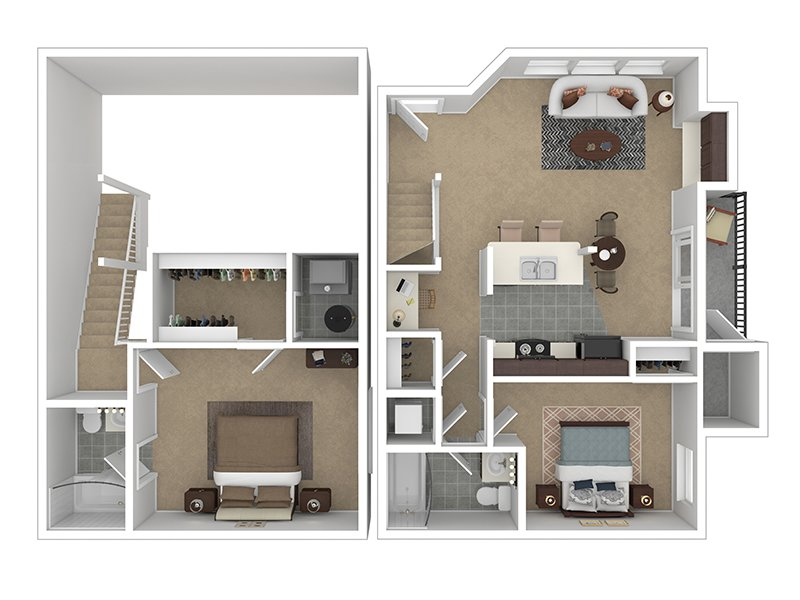 Our 2X2-960 is a 2 Bedroom, 2 Bathroom Apartment