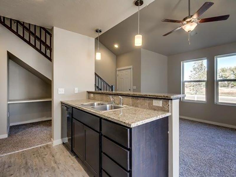 Kitchen & Living Room | Stonesthrow Meridian Apartments