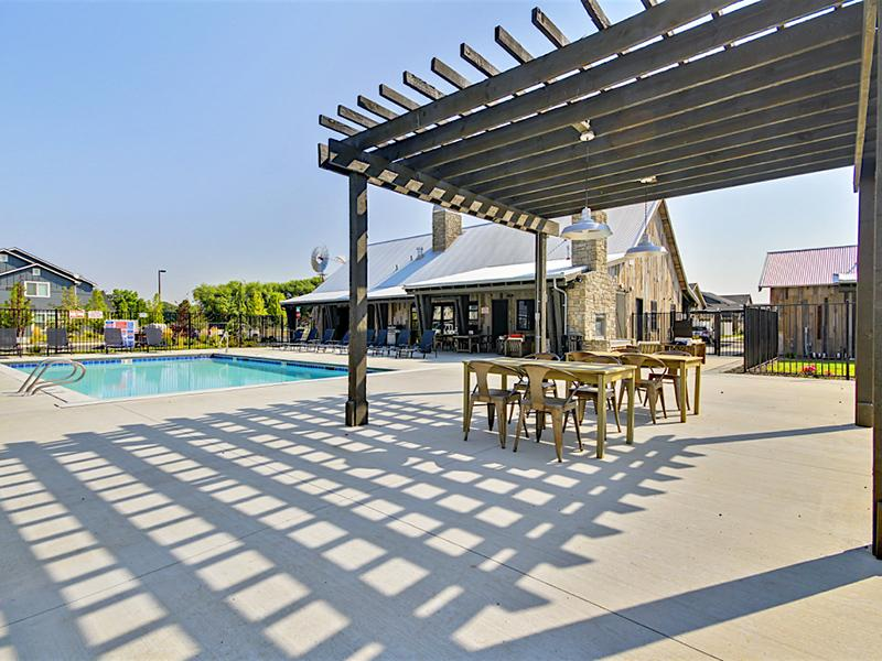 Pool Side Gazebo | Stonesthrow in Meridian, Idaho