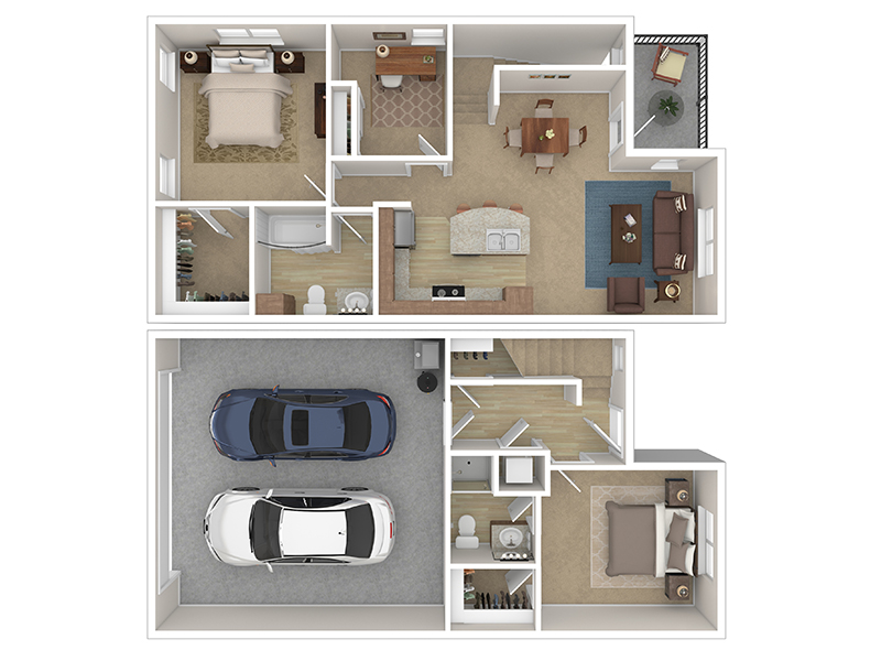 Our Cottage 4 is a 3 Bedroom, 2 Bathroom Apartment