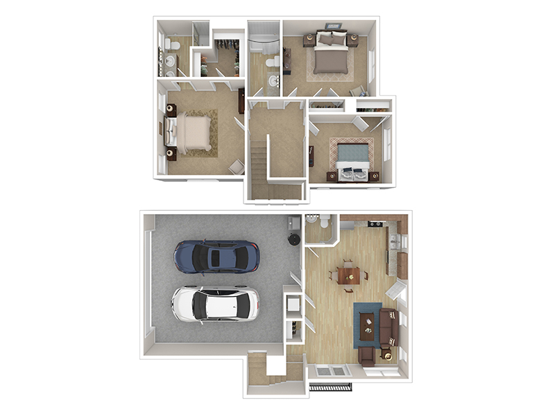 Our Cottage 6 is a 3 Bedroom, 2.5 Bathroom Apartment