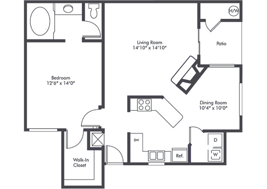 Floorplan for Luxe at Burbank Apartments