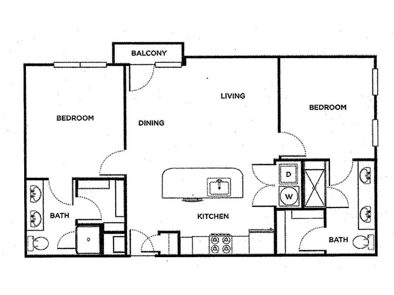 Our 2 Bedroom Villa B2 is a 2 Bedroom, 2 Bathroom Apartment