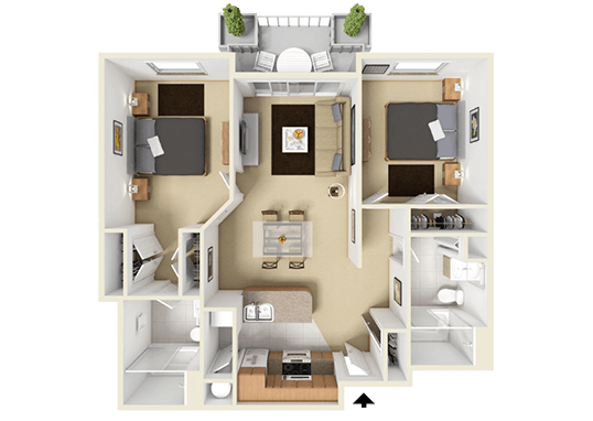 Floorplan for Elevate on 5th Apartments