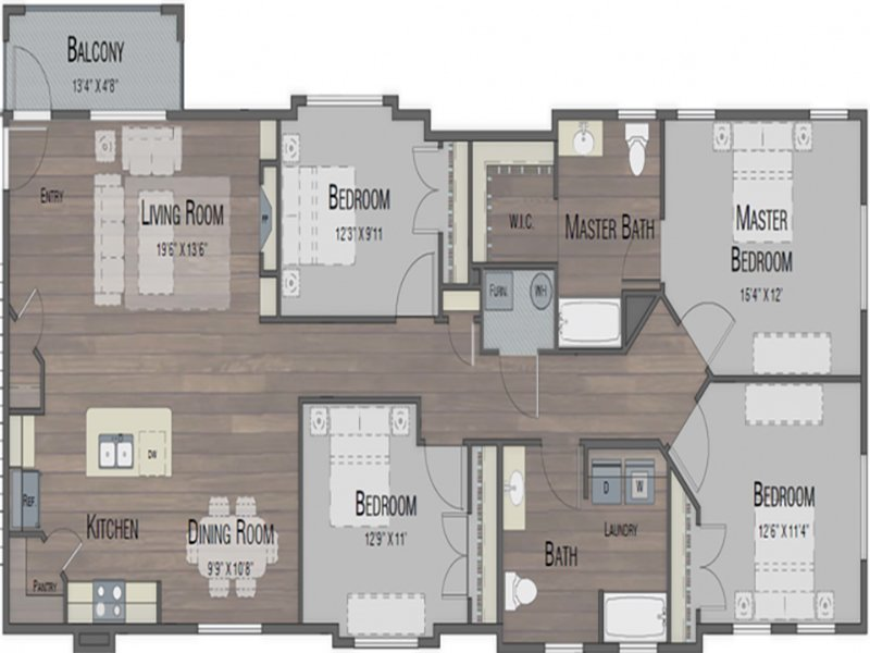 Our four Bedroom two Bathroom is a 4 Bedroom, 2 Bathroom Apartment