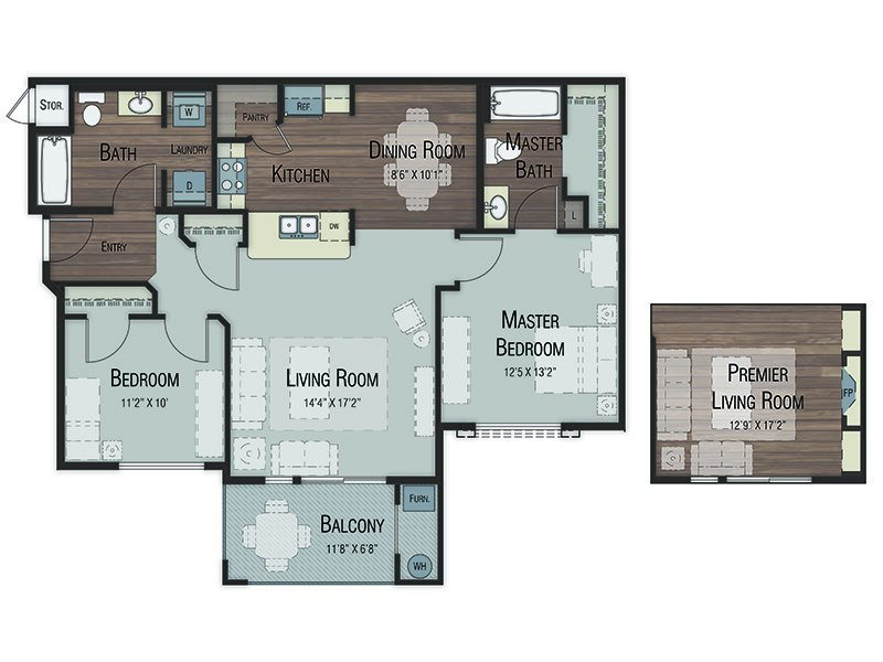 Our two Bedroom two Bathroom is a 2 Bedroom, 2 Bathroom Apartment