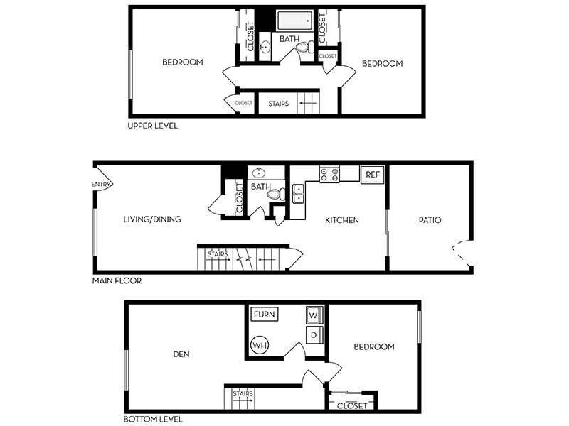 Our 3 Bedroom 1.5 Bathroom is a 3 Bedroom, 2 Bathroom Apartment