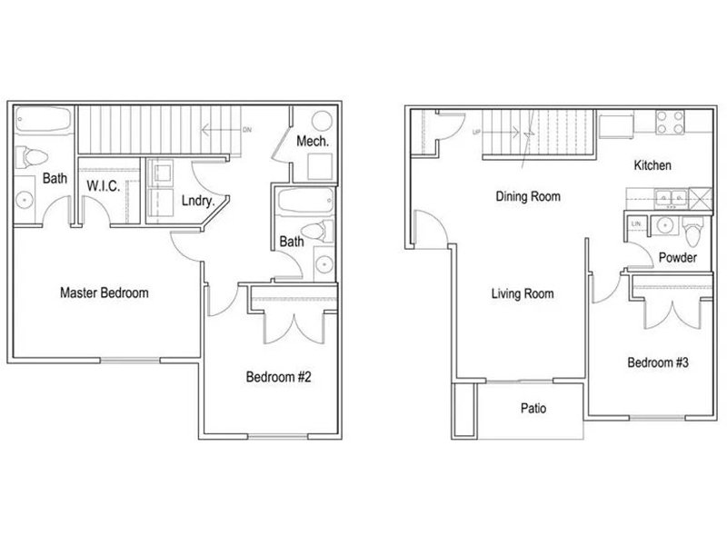 Our Copper is a 3 Bedroom, 2.5 Bathroom Apartment
