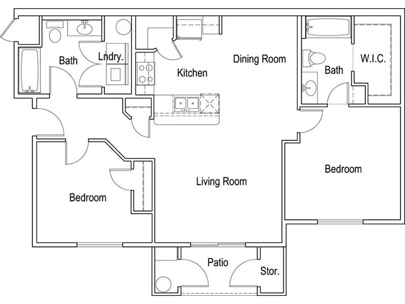 Our Kingston is a 2 Bedroom, 2 Bathroom Apartment