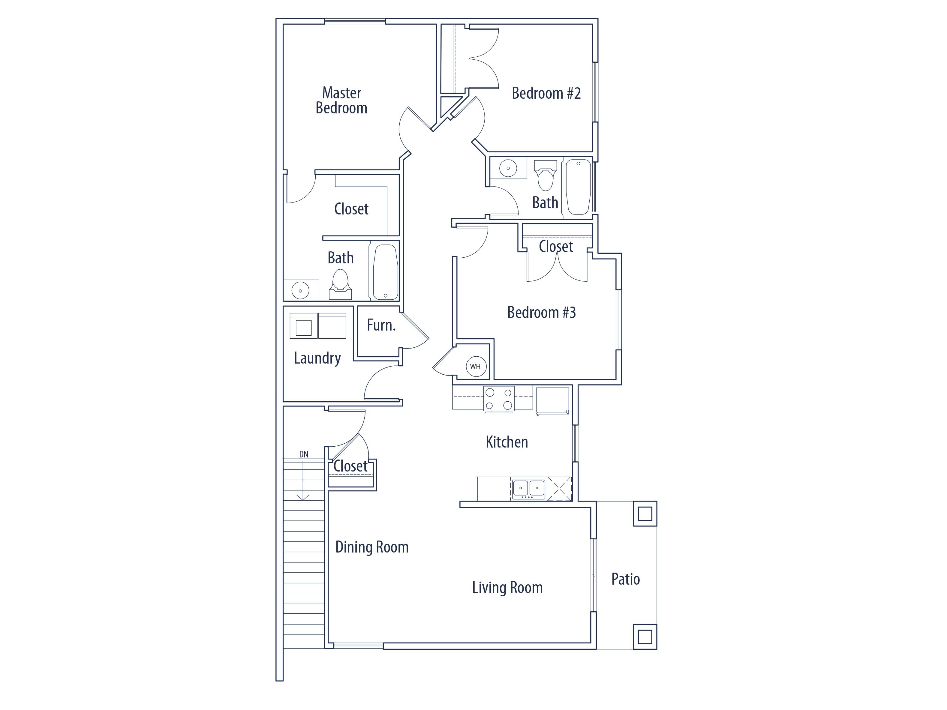 Floor Plans at Wilshire Place Apartments