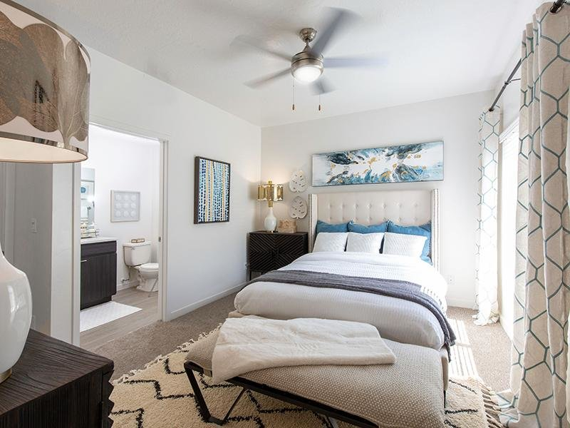 Furnished bedroom with bathroom   Wilshire Place