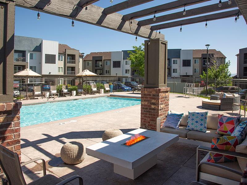 June pool picture with pool lounge | Wilshire Place