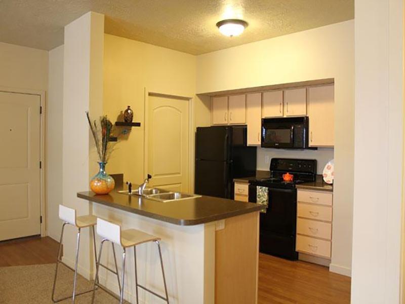 Kitchen   Wilshire Place Apartments
