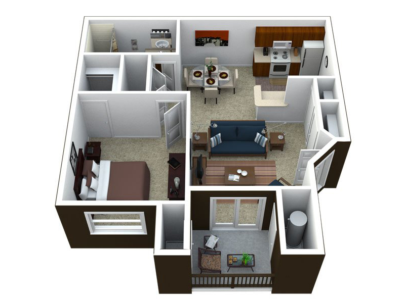 Our A1-830 is a 1 Bedroom, 1 Bathroom Apartment