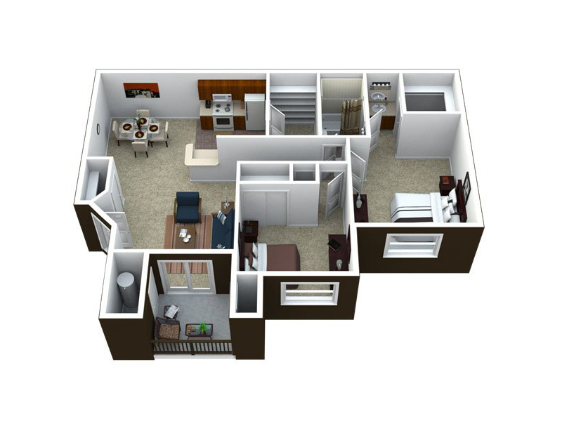 Our B1-1064 is a 2 Bedroom, 1 Bathroom Apartment