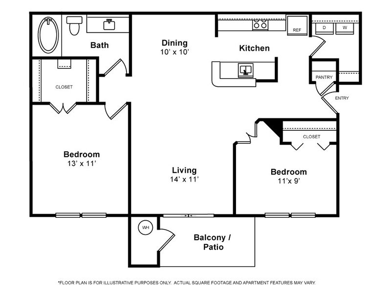 Our Birch is a 2 Bedroom, 1 Bathroom Apartment