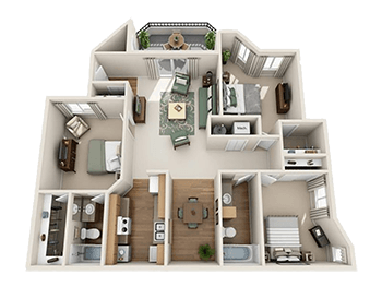 Floorplan for Seasons At Pebble Creek Apartments