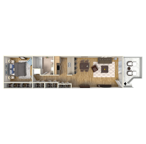 Floorplan for The Timbers Apartments