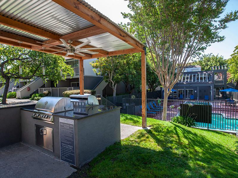 BBQ Area & Pool | Apartments in Hayward CA