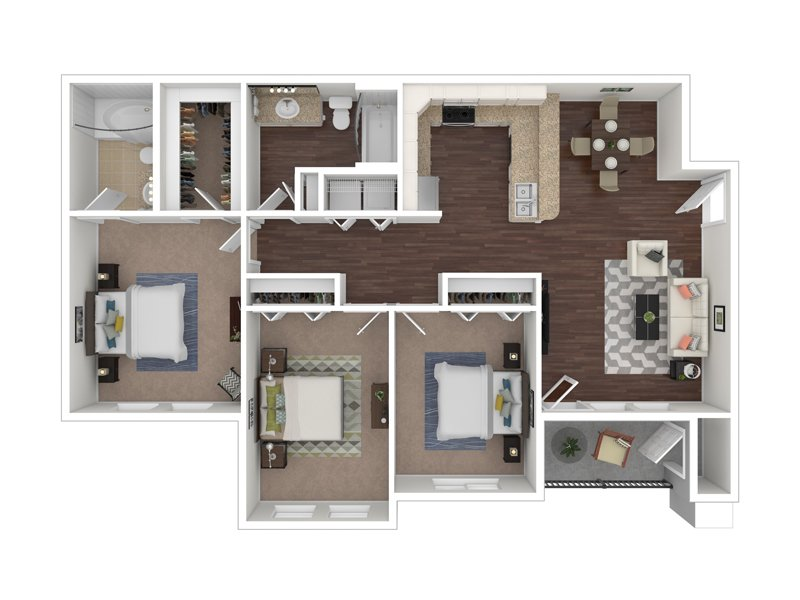 Floor Plans at The Hills at Renaissance Apartments