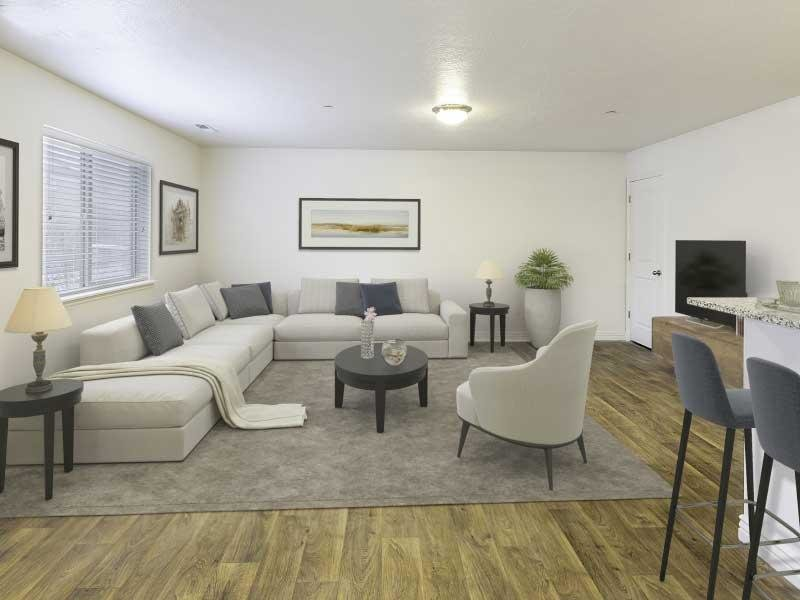 Living Room overview | Ridgeview Apartments