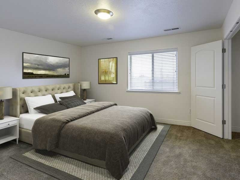 Master bedroom overview | Ridgeview Apartments
