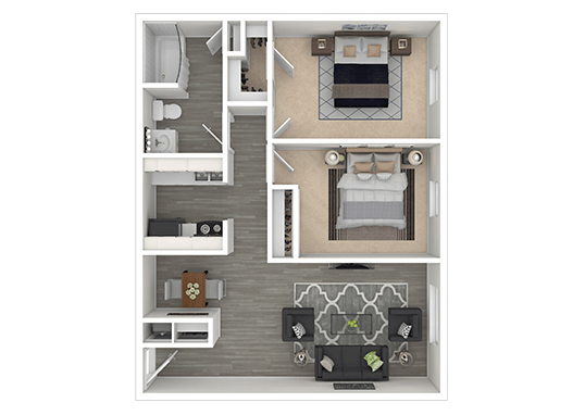 Floorplan for Solara Apartments