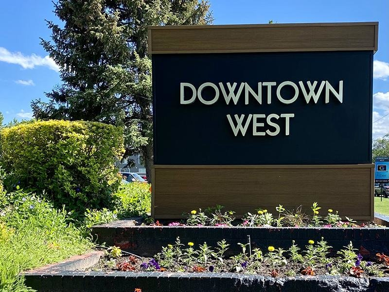 Monument Sign | Downtown West Apartments in Salt Lake City, UT