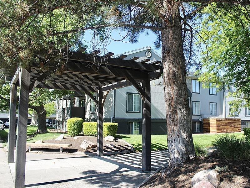 Shaded Walkways | Downtown West Apartments in Salt Lake City, UT