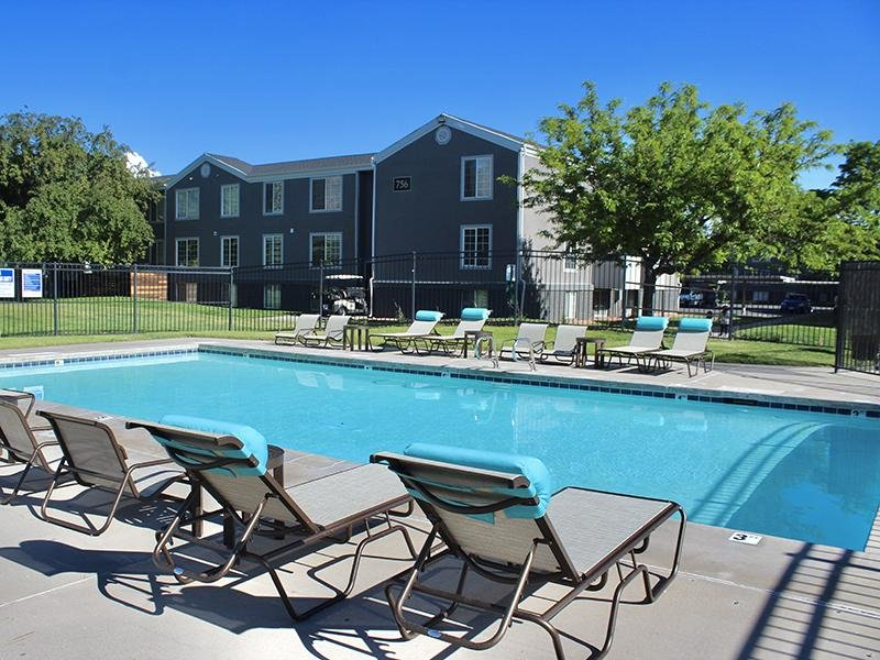 Poolside Seating | Downtown West Apartments in Salt Lake City, UT