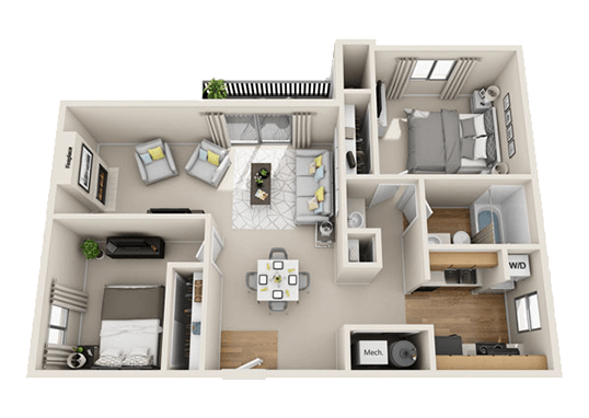 Floorplan for Fox Creek Apartments
