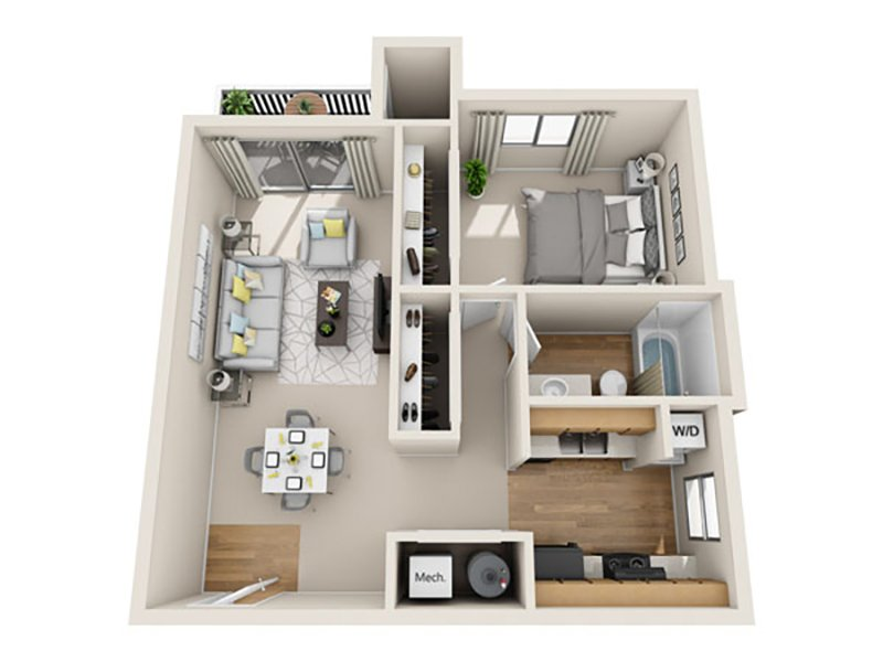 Floor Plans at Fox Creek Apartments
