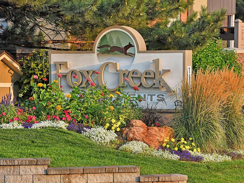 Welcome Sign | Fox Creek Apartments