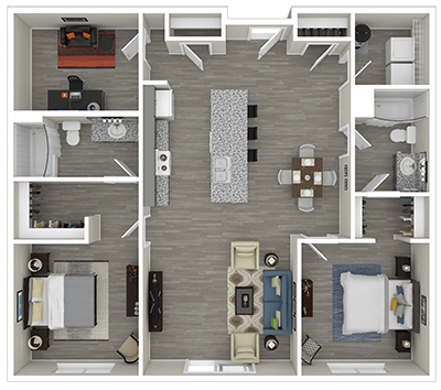 Floorplan for Clearfield Junction Apartments
