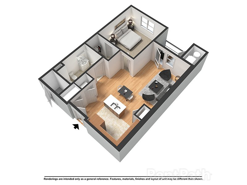 Our Atlantic is a 1 Bedroom, 1 Bathroom Apartment