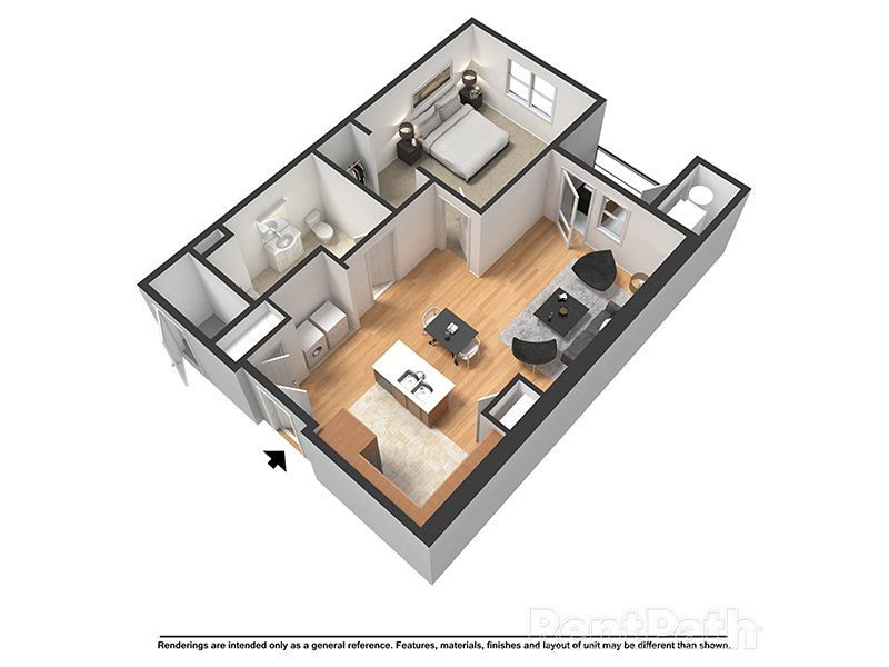 Our Atlantic (H) is a 1 Bedroom, 1 Bathroom Apartment