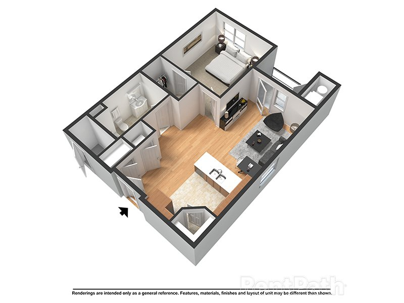 Our Baltic is a 1 Bedroom, 1 Bathroom Apartment