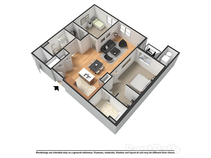 Our Bristol is a 2 Bedroom, 2 Bathroom Apartment