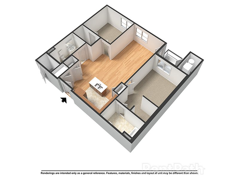 Our Bristol (H) is a 2 Bedroom, 2 Bathroom Apartment