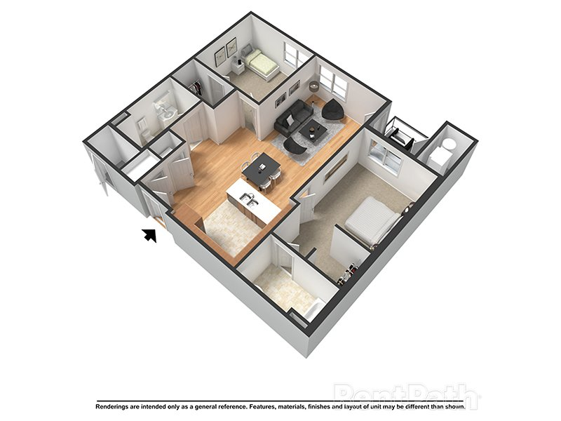Our Caspian is a 2 Bedroom, 2 Bathroom Apartment