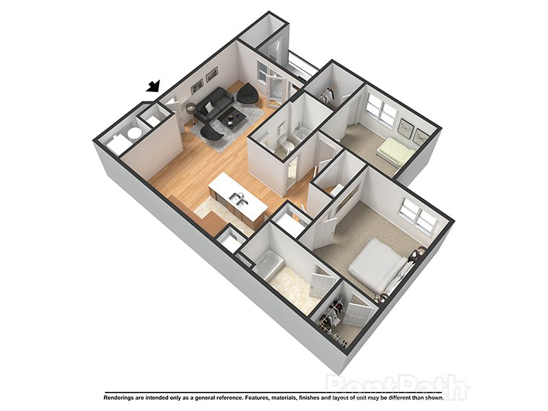 Our Coral is a 2 Bedroom, 2 Bathroom Apartment