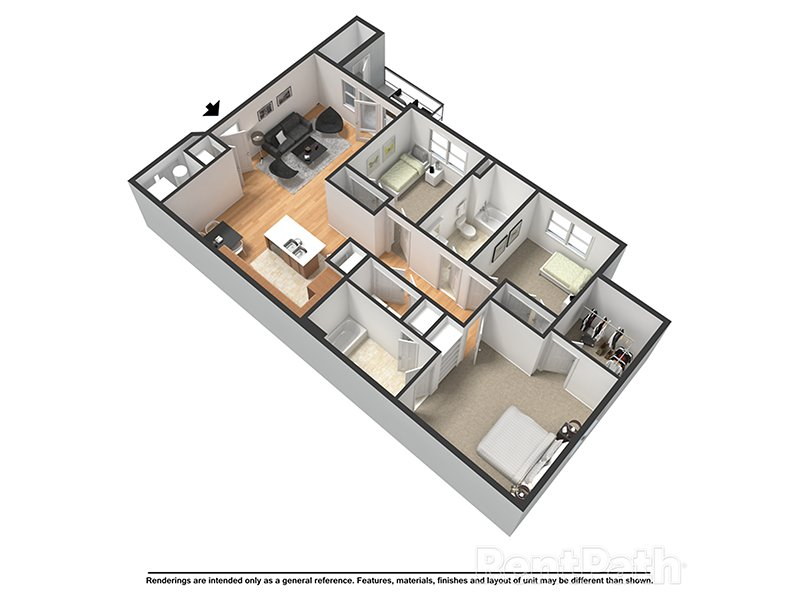 Our Victoria is a 3 Bedroom, 2 Bathroom Apartment