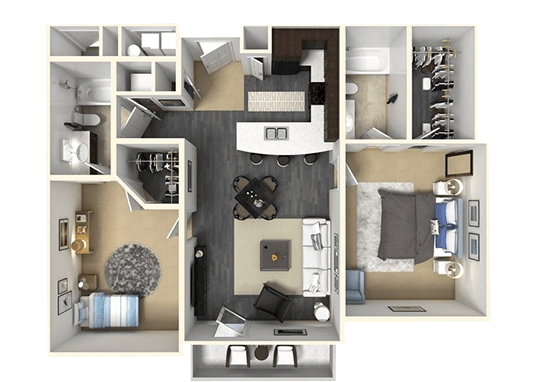 Floorplan for Claradon Village Apartments