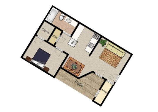 Floorplan for The Village at Raintree Apartments