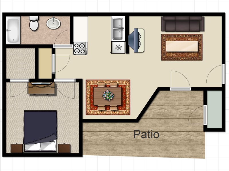 Our ASPEN is a 1 Bedroom, 1 Bathroom Apartment