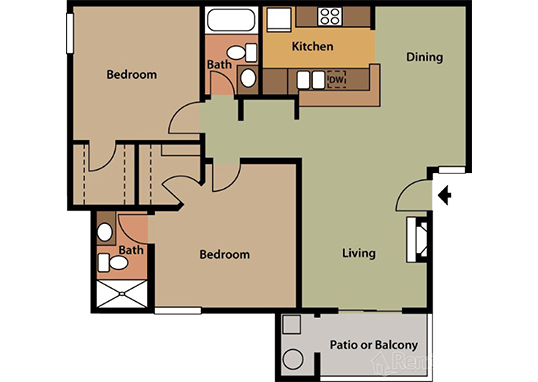 Floorplan for Palm Chaparral Apartments