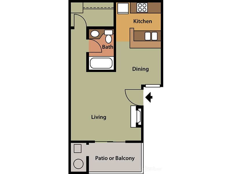 Floor Plans at Palm Chaparral Apartments
