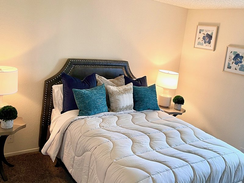 Furnished Bedroom | Chaparral Apartments in Palmdale, CA